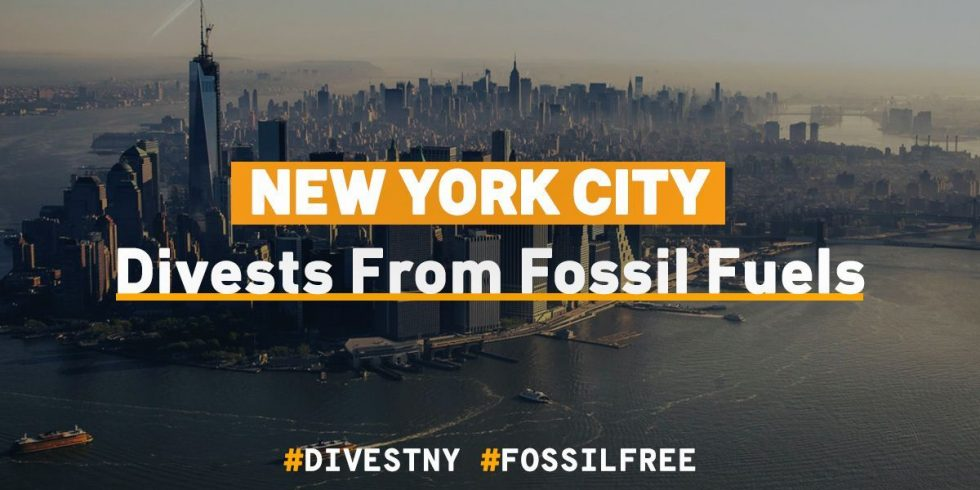 New York City pledges to Divest and sue Big Oil companies